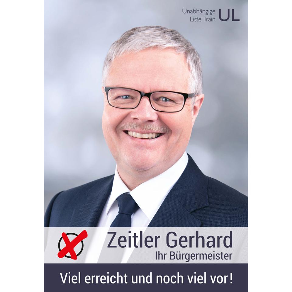 Wahlplakat - Zeitler Gerhard